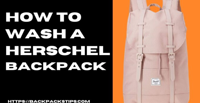 how to wash a herschel backpack